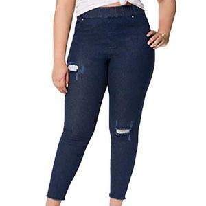 HUE Ripped Knee Original Denim Jeans
